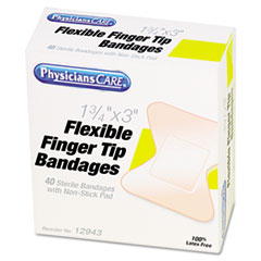 PhysiciansCare First Aid Fingertip Bandages, Box of 40