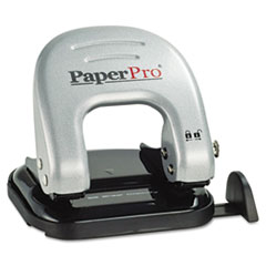 PaperPro Two-Hole Punch, 20 Sheet Capacity, Black/Silver