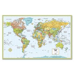 Rand McNally M-Series Full-Color Laminated World Map, 32 x 50