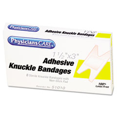 PhysiciansCare First Aid Fabric Knuckle Bandages, 8/Box