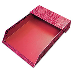 Aurora Products ProFormance Letter Tray, Crocodile Pattern, Red, With Roof