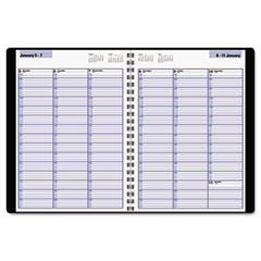 DayMinder Weekly Appointment Book, 8 x 11, Black, 2016