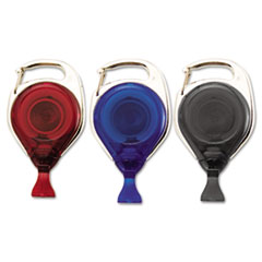 Advantus Recycled Carabiner-Style Badge Reels,34