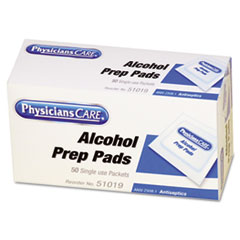 PhysiciansCare by First Aid Only First Aid Alcohol Pads, 50/Box