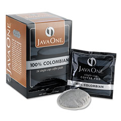 Java One Coffee Pods, Colombian Supremo, Single Cup, 14/Box