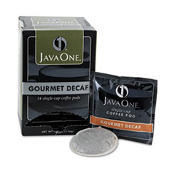 Java One Coffee Pods, Colombian Decaf, Single Cup, Pods,14/Box