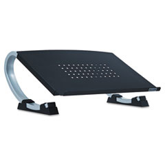 Allsop Adjustable Curve Notebook Stand, 15 x 11 1/2 x 6, Black/Silver