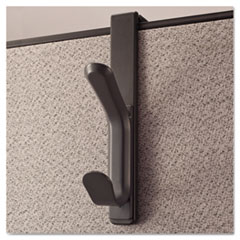 Universal 08607 Recycled Cubicle Double Coat Hook, Plastic, Charcoal UNV08607 UNV 08607