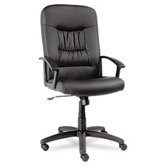 ALE YK41LS10B Alera York Series Executive High-Back Swivel/Tilt Leather Chair ALEYK41LS10B