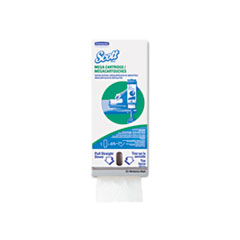 KIMBERLY-CLARK PROFESSIONAL* SCOTT MegaCartridge Napkins, 1-Ply, 8 2/5 x 6 1/2, White, 5250/Carton