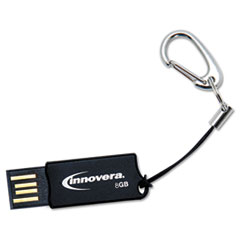 Innovera COB Flash Drive, 8 GB, USB 2.0, Black