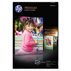 HP Premium Photo Paper, 64 lbs., Matte, 4 x 6, 100 Sheets/Pack