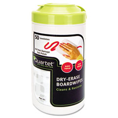 Dry Erase Wet Wipes, Cloth, 7 x 8, 50/Tub