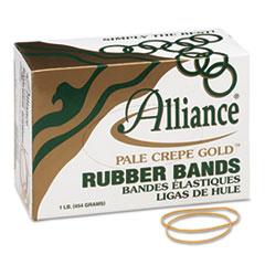 Alliance Pale Crepe Gold Rubber Bands, Size 19, 3-1/2 x 1/16, 1lb Box