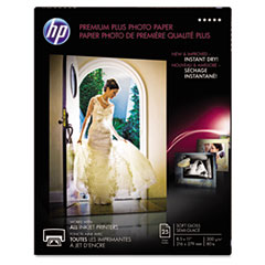 HP Premium Plus Photo Paper, 80 lbs., Soft-Gloss, 8-1/2 x 11, 25 Sheets/Pack