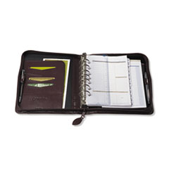 FranklinCovey Sierra Simulated Leather Ring Bound Organizer, 5-1/2 x 8-1/2, Burgundy