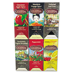Celestial Seasonings Tea, Six Assorted Flavors, 25/Flavor, 150/Carton