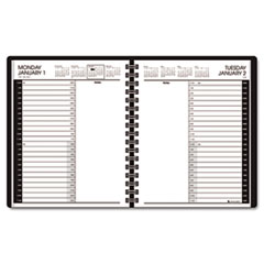 AT-A-GLANCE Recycled 24-Hour Daily Appointment Book, Black, 6 7/8