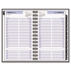 DayMinder Recycled Daily Appointment Book, Black, 4 7/8