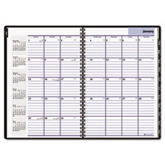 DayMinder Recycled Monthly Planner, Black, 7 7/8
