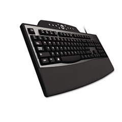 Pro Fit Comfort Keyboard, Internet/Media Keys, Wired, Black