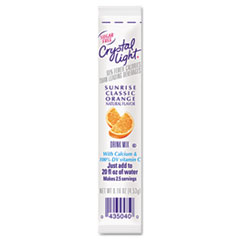 Crystal Light On the Go, Sunrise Orange, .16 oz Packets, 30/Box