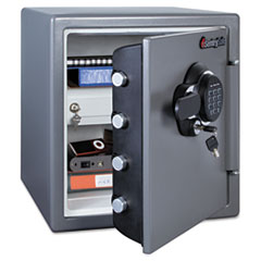 Sentry Safe Electronic Fire Safe, 1.23 ft3, 16-3/8w x 19-3/8d x 17-7/8h, Gunmetal Gray