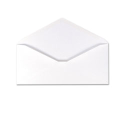 Ampad 100% Recycled Paper Business Envelope, V-Flap, #10, White, 500/Box