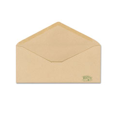 Earthwise Ampad Envirotech Recycled Envelope, V-Flap, #10, Natural Brown, 500/Box