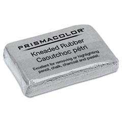 Prismacolor® ERASER KNEADED RUBR LARGE DESIGN KNEADED RUBBER ART ERASER, RECTANGULAR, LARGE, GRAY
