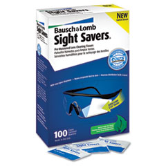 Bausch & Lomb Sight Savers Premoistened Lens Cleaning Tissues, 100 Tissues/Box
