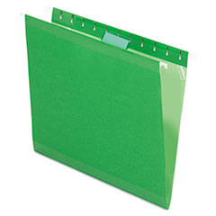 Pendaflex Reinforced Hanging Folders, 1/5 Tab, Letter, Bright Green, 25/Box