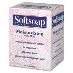 Softsoap Moisturizing Soap w/Aloe, Unscented Liquid, Dispenser, 800mL, 12/Carton