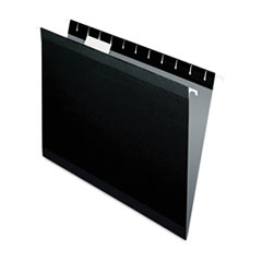 Pendaflex Reinforced Hanging File Folders, Letter, Black, 25/Box