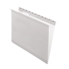 Pendaflex Reinforced Hanging Folders, 1/5 Tab, Letter, Gray, 25/Box