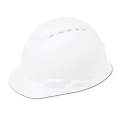 3M H-700 Series Hard Hat with 4-Point Ratchet Suspension, Vented, White