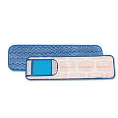 Rubbermaid Commercial HYGEN HYGEN Wet Pad w/Scrubber, Nylon/Polyester Microfiber, 18
