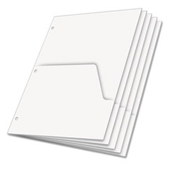 Cardinal Untabbed Ring Binder Double Pocket Dividers, Letter, White, 5/Pack