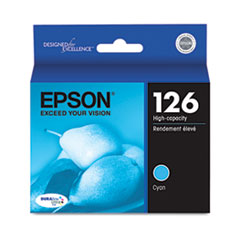 Epson T126220 (126) High-Yield Ink, Cyan