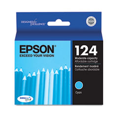 Epson T124220 (124) Moderate Capacity Ink, Cyan