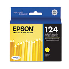 Epson T124420 (124) Moderate Capacity Ink, Yellow
