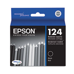 Epson T124120 (124) Moderate Capacity Ink, Black