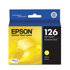 Epson T126420 (126) DURABrite Ultra High-Yield Ink, Yellow