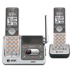 AT&T CL82201 DECT 6.0 Cordless Phone/Answering System, 2 Handsets