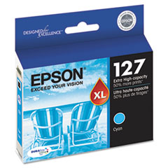 Epson T127220 (127) Extra High-Yield Ink, Cyan