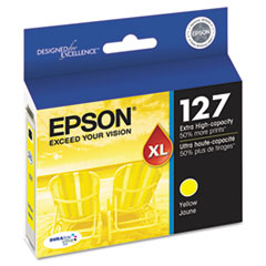 Epson T127420 (127) Extra High-Yield Ink, Yellow