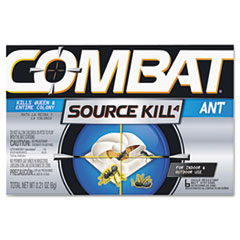 Combat Ant Killing System, Child-Resistant, Kills Queen &amp; Colony, 6/Box