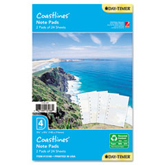 Day-Timer Coastlines Notepads w/Four Designs, 5-1/2 x 8-1/2