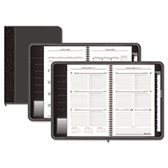 AT-A-GLANCE Executive Weekly/Monthly Planner, 4-5/8 x 8, Black, 2014