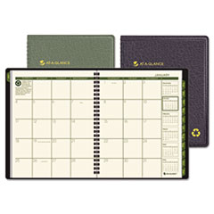 AT-A-GLANCE Recycled Monthly Planner, Black, 6 7/8
